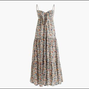 NEW J.CREW  Tie-Front Dress Liberty Floral Size 6
